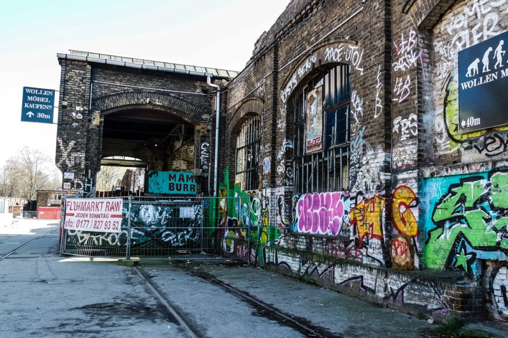 Bombed out train depot, Berlin