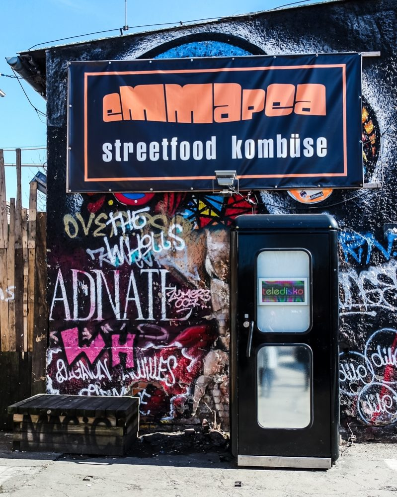 World's smallest disco in a phone box, Berlin