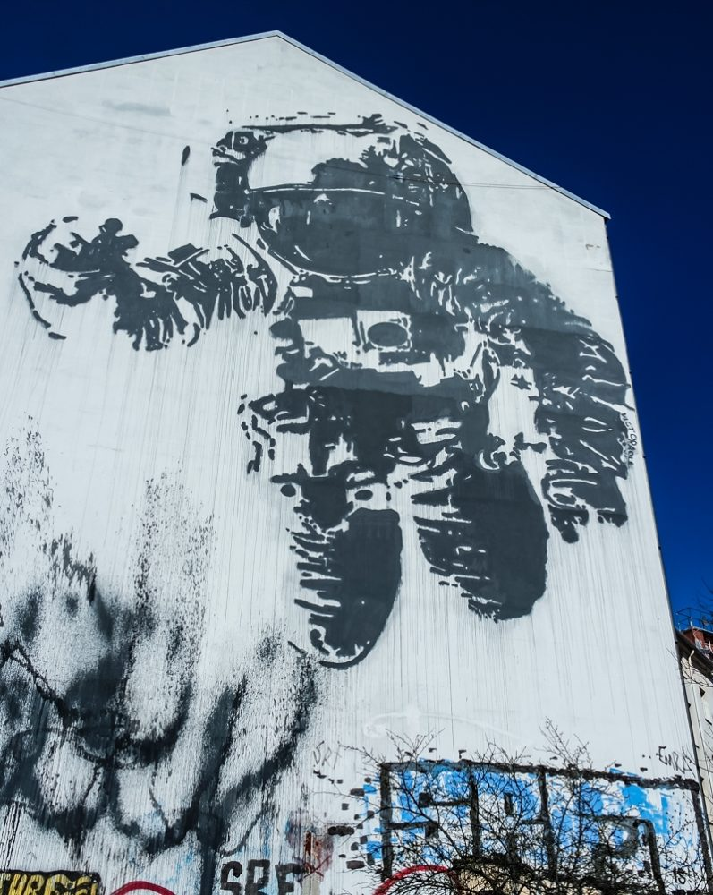 Astronaut Mural, Kreuzberg, Berlin