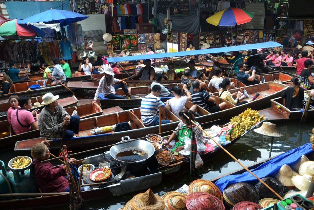 Bangkok floating market | Thailand Bucket List