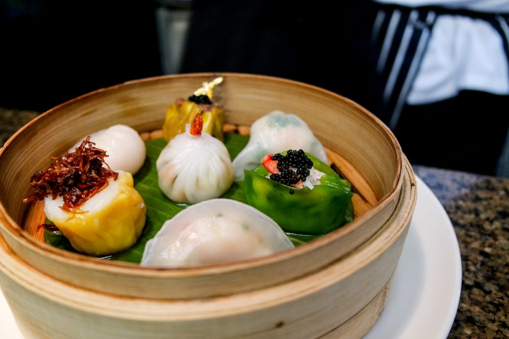 Dim sum at Mango Tree restaurant, Harrods