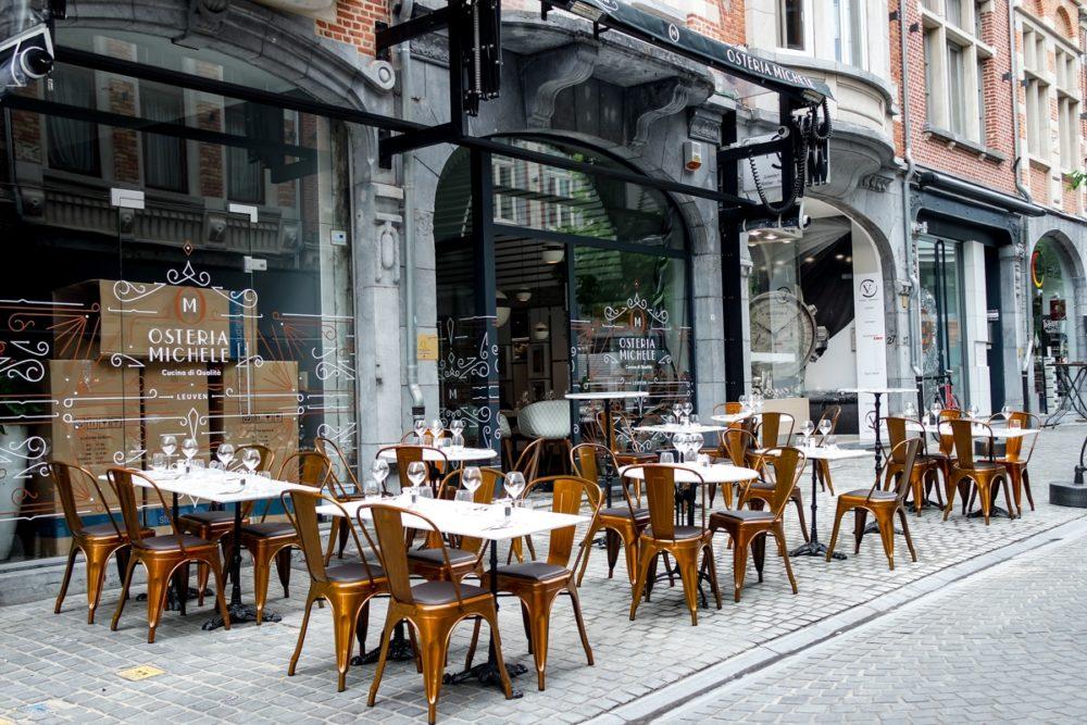 A street cafe in Leuven, Belgium