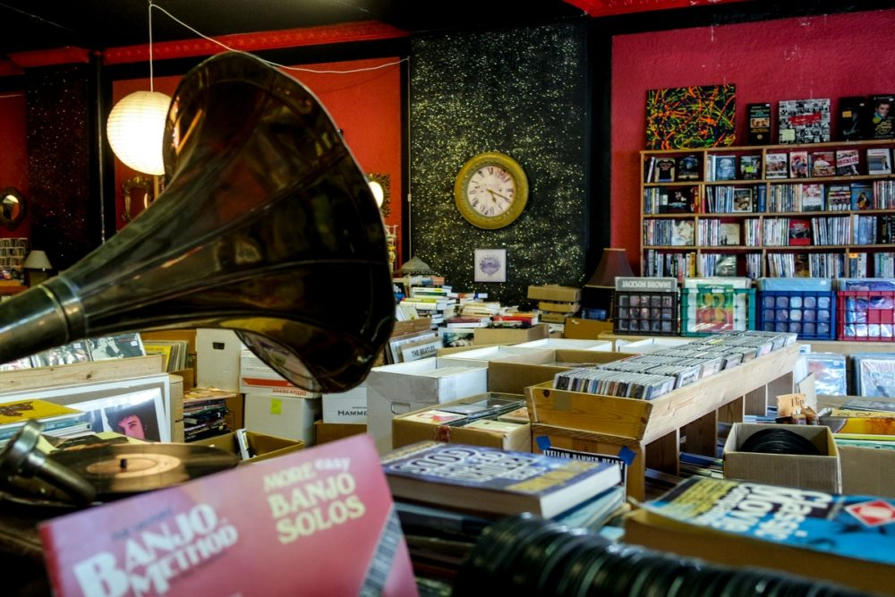 Record store shopping in Birmingham, Alabama