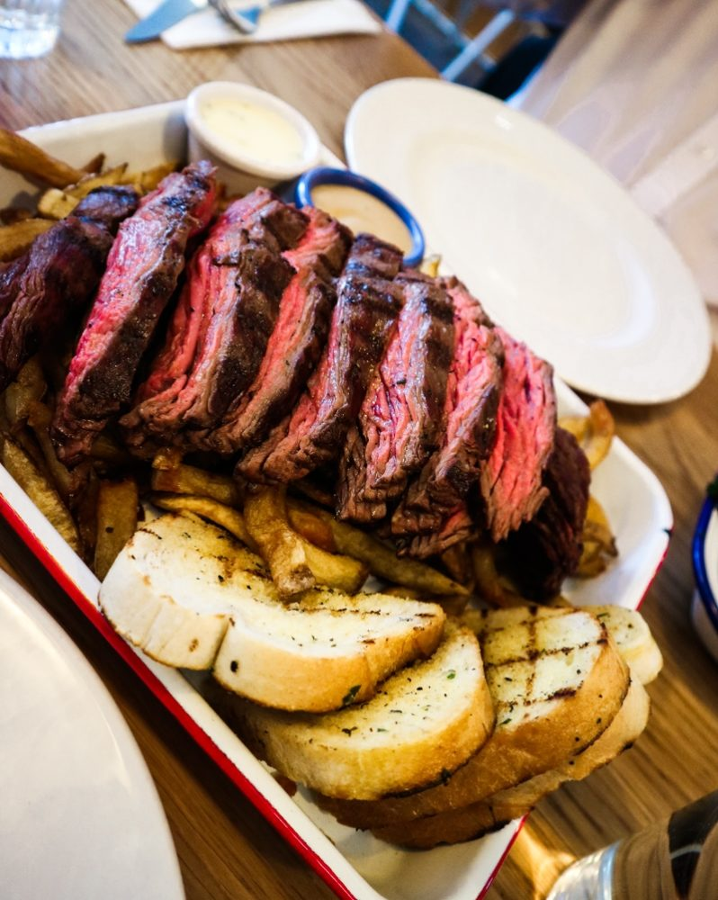 Bavette to share at Arlo's steak restaurant, Balham