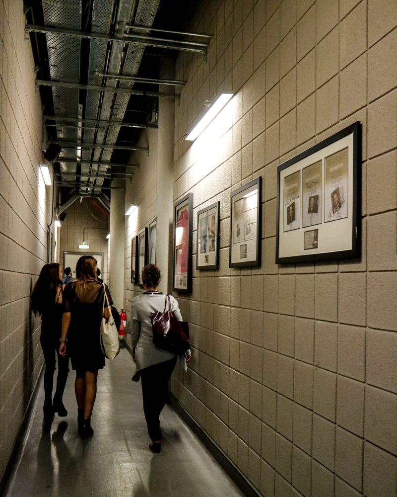 Backstage corridor at The O2 Arena, London | Mini Adventures