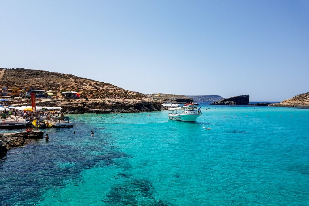 A boat trip around Comino, Malta
