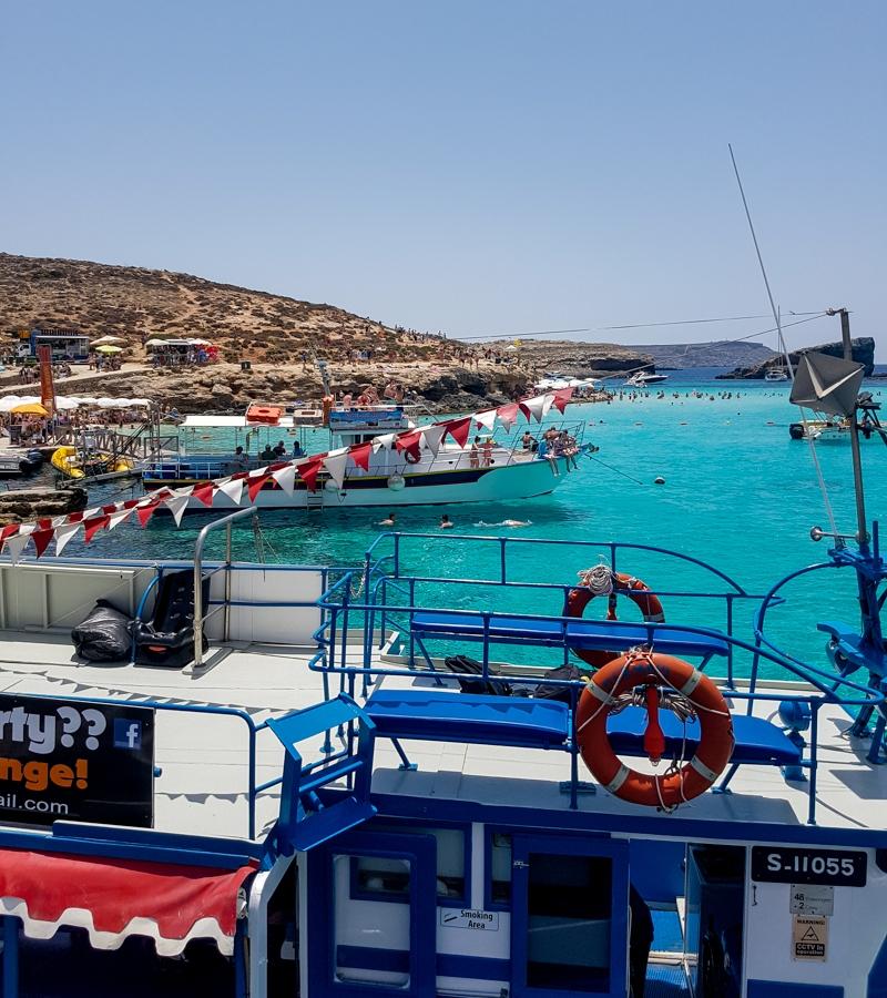 A boat trip to Comino, Malta