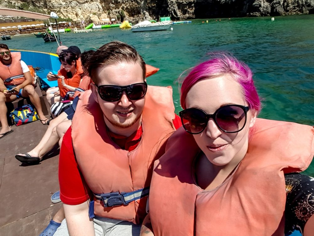 Anchor Bay boat trip at Popeye Village, Malta
