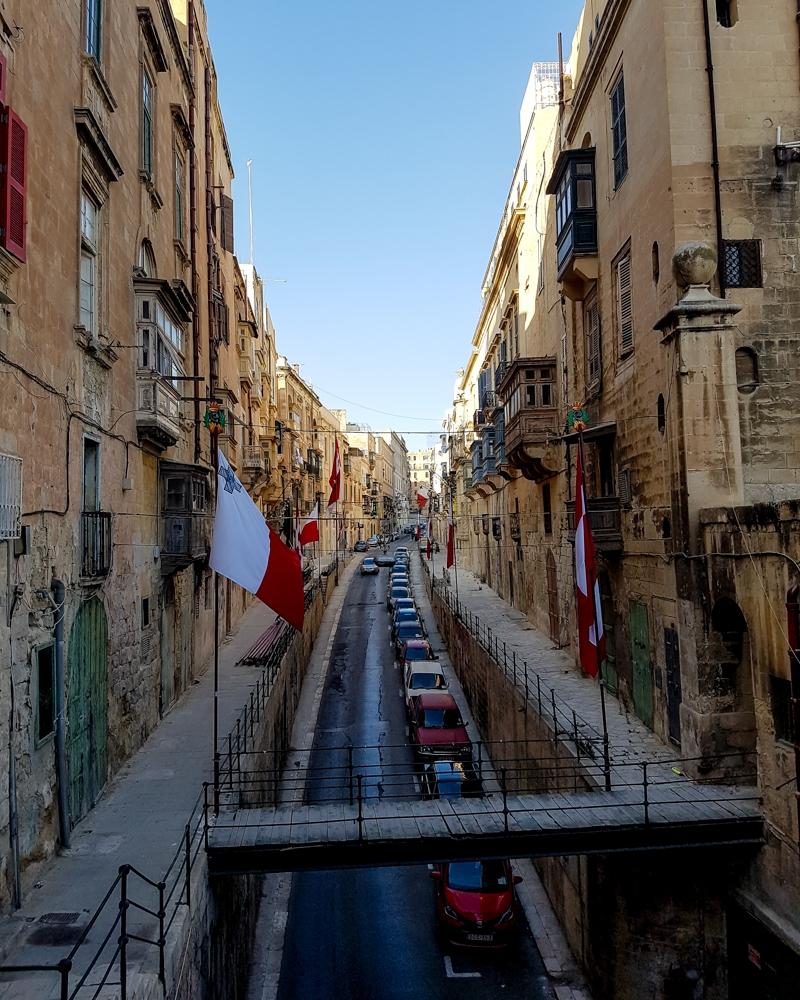 Streets in Valetta, Malta