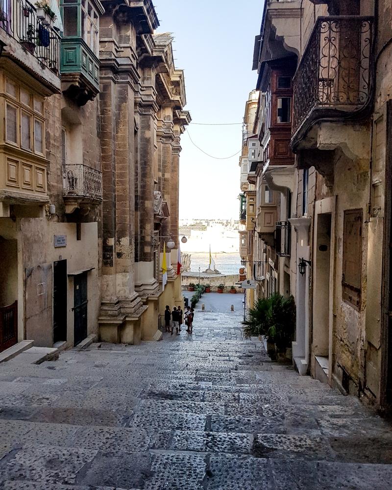 Street in Valetta, Malta