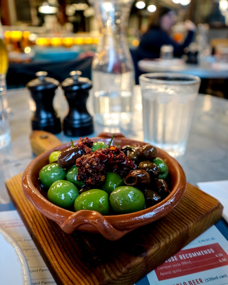 Olives at Jamie's Pizzeria, Victoria | Mini Adventures Travel Blog