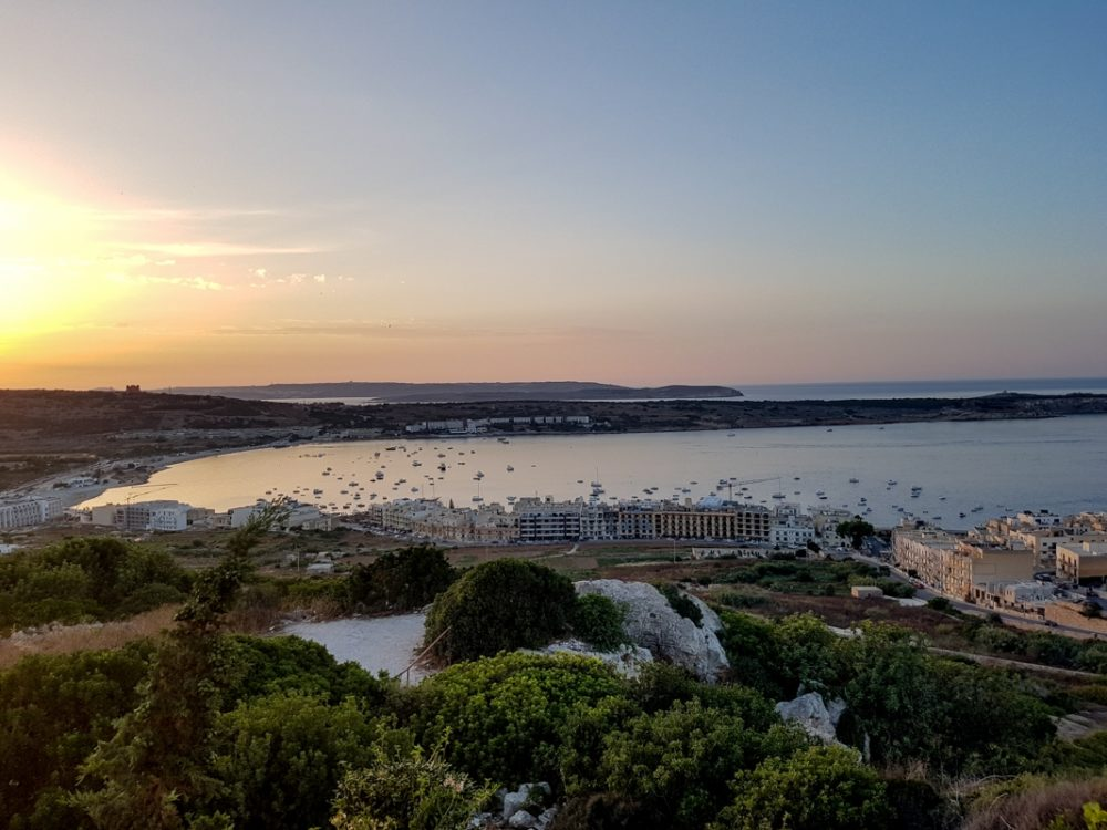 Sunset at Mellieha Bay, Malta | Mini Adventures