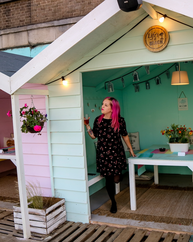 Beach hut at Neverland urban beach, London | Mini Adventures