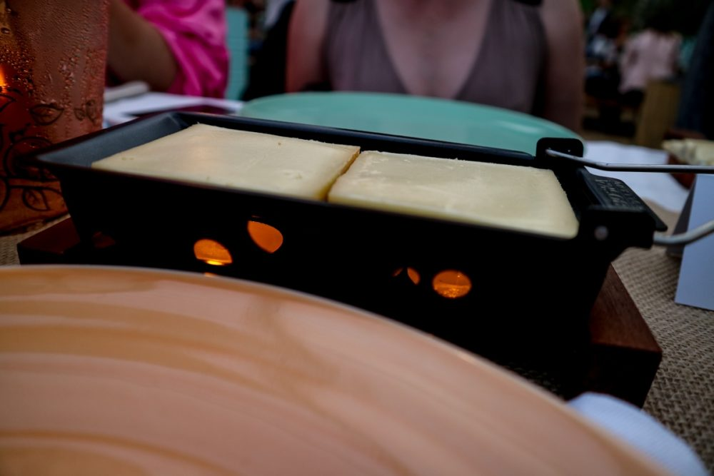 Raclette at Neverland urban beach, London | Mini Adventures