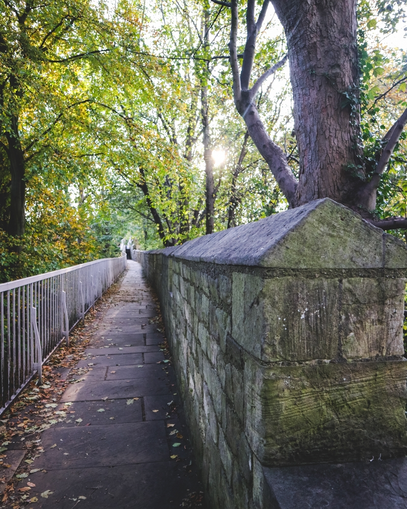 Walking along York's city walls