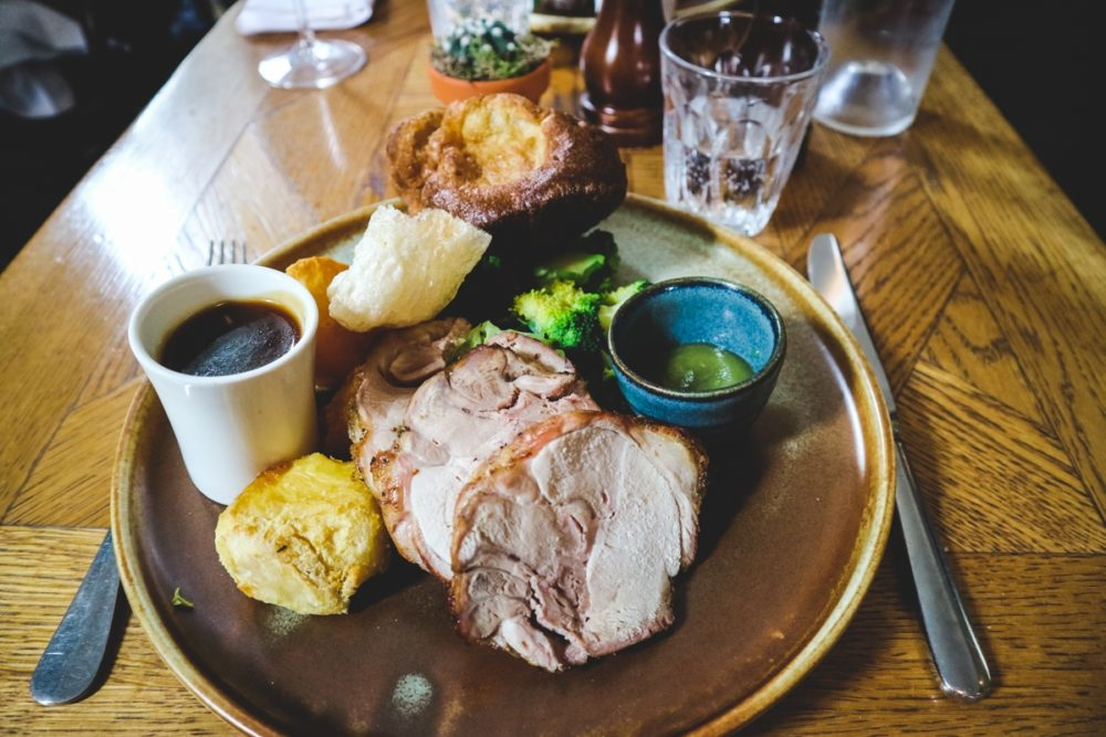 Pork Roast Sunday lunch at the Alfred Tennyson, London