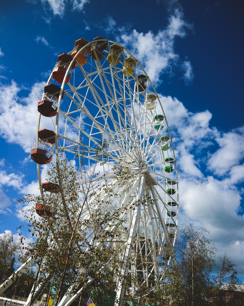 Ferris wheel at Dreamland park, Margate, Kent