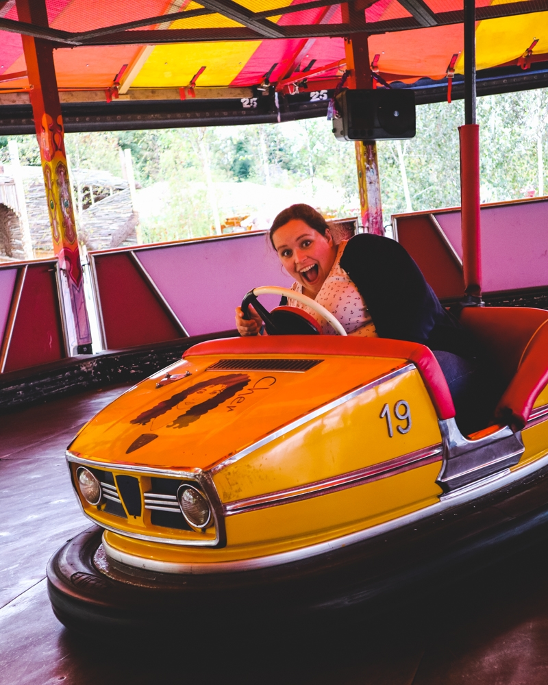 Dodgems at Dreamland park, Margate, Kent