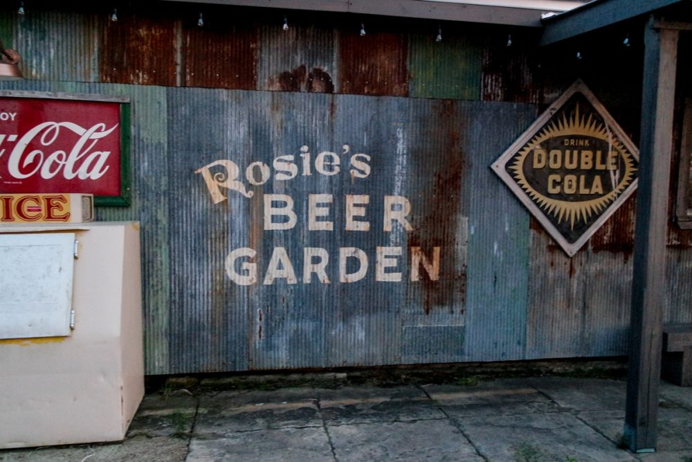 Rosie's Beer Garden sign