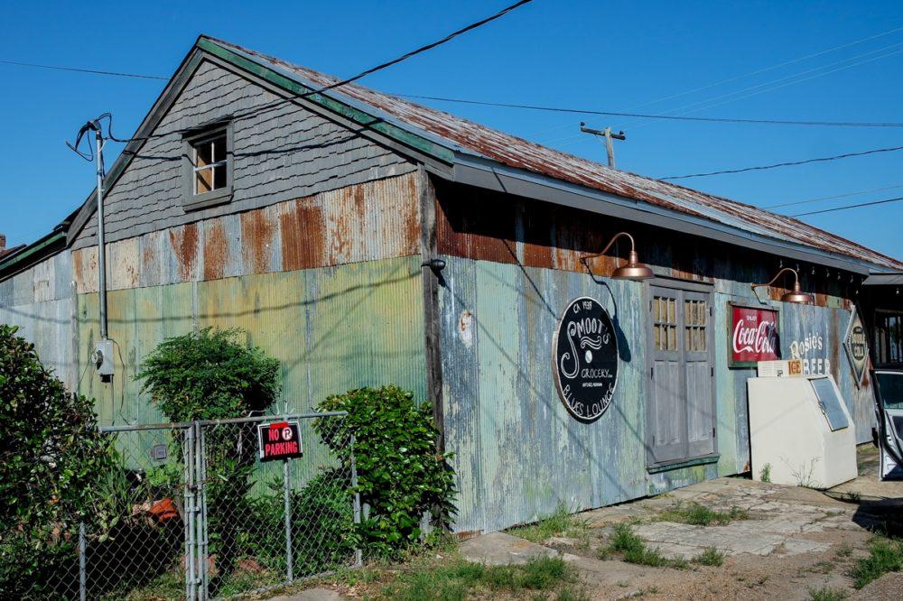 A metal building in Natchez, Mississippi