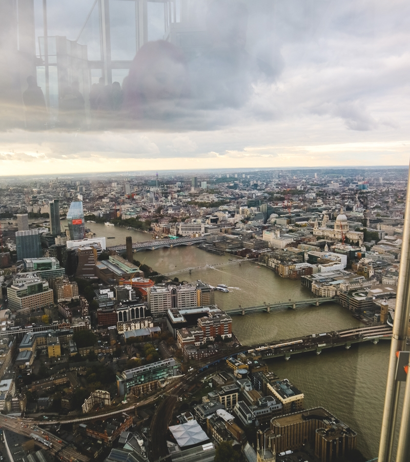 View of London at The Shard, London