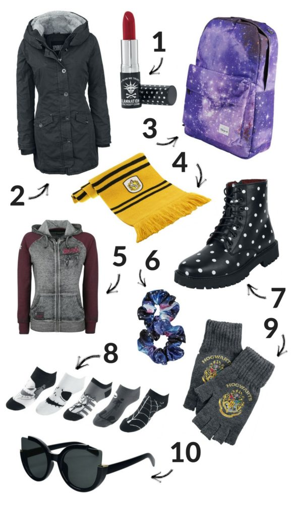 Winter break wishlist of clothes and accessories from EMP