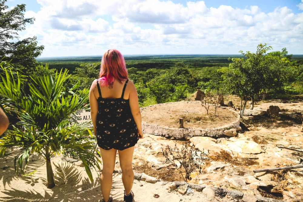 Roadside stop on the way to Uxmal Mayan ruins