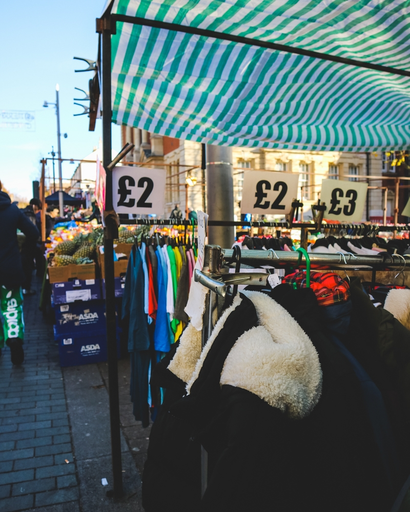 Shopping at Walthamstow Market
