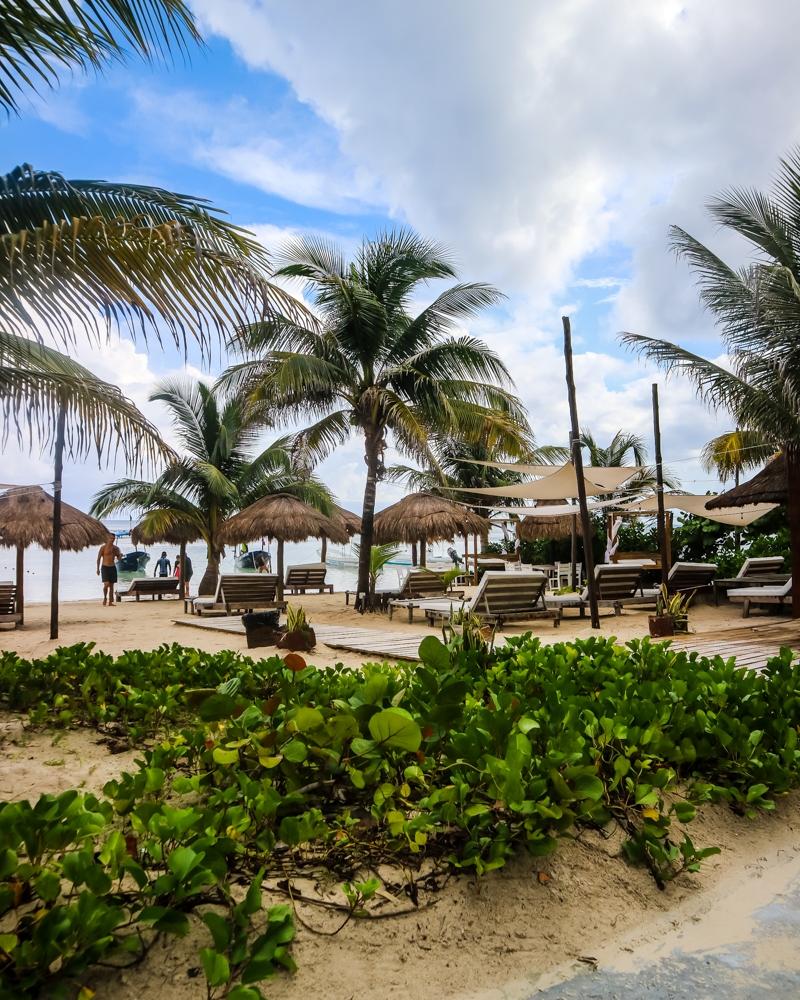 Beach Bar in Majahaul, Mexico