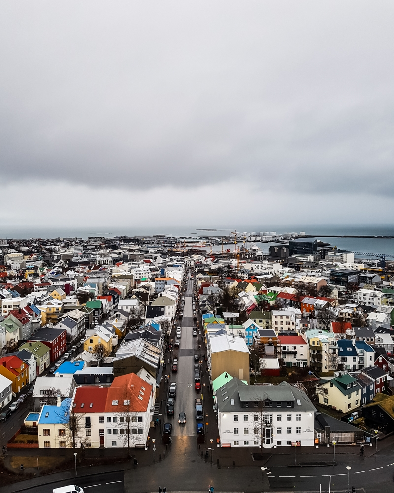 View from Hallgrímskirkja Church, Reykjavik | Pictures of Iceland in Winter #iceland #winterphotography #europe #nordiccountries #kinfolk