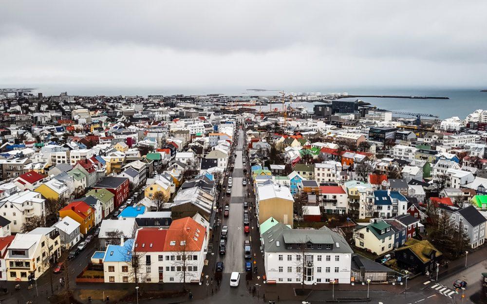 View from Hallgrímskirkja Church, Reykjavik