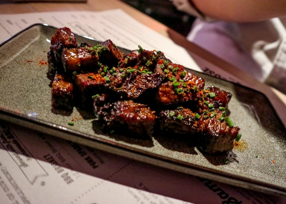 Burnt End Bites at The Original Smokehouse restaurant Westfield London