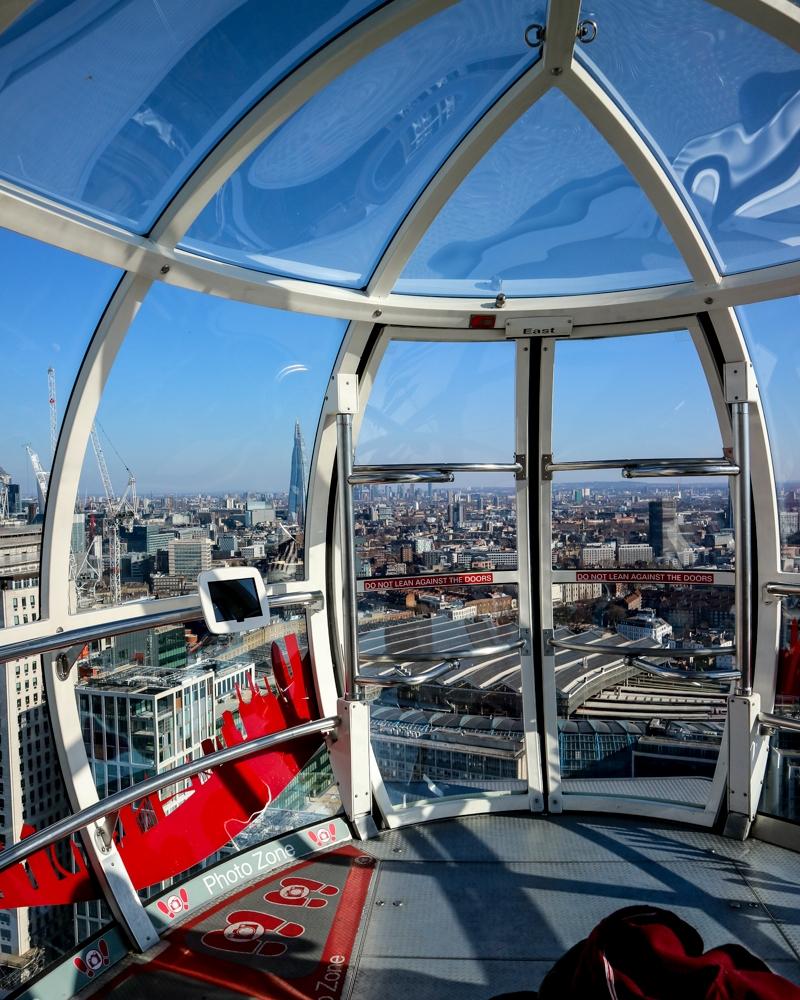Capsule on The London Eye | Mini Adventures UK Travel Blog