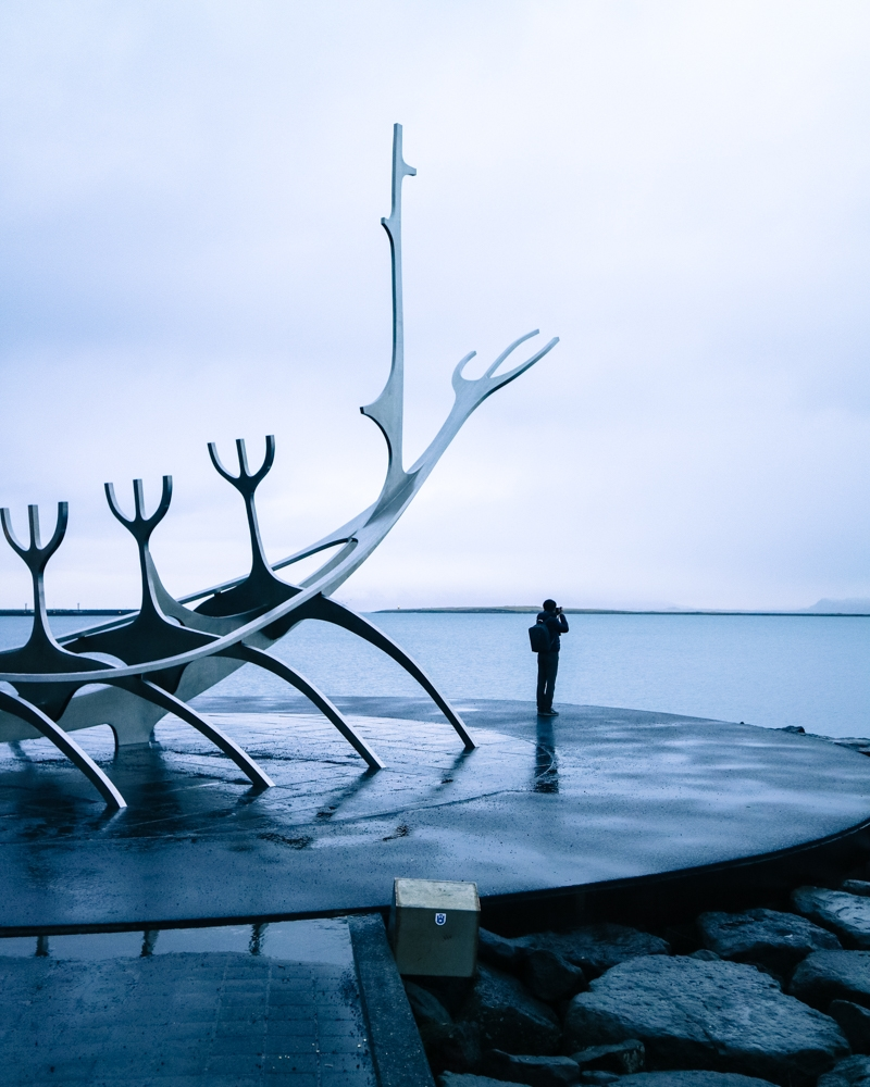 The view from the Solfar (Sun Voyager) Sculpture, Reykjavik | Pictures of Iceland in Winter #iceland #winterphotography #europe #nordiccountries #kinfolk