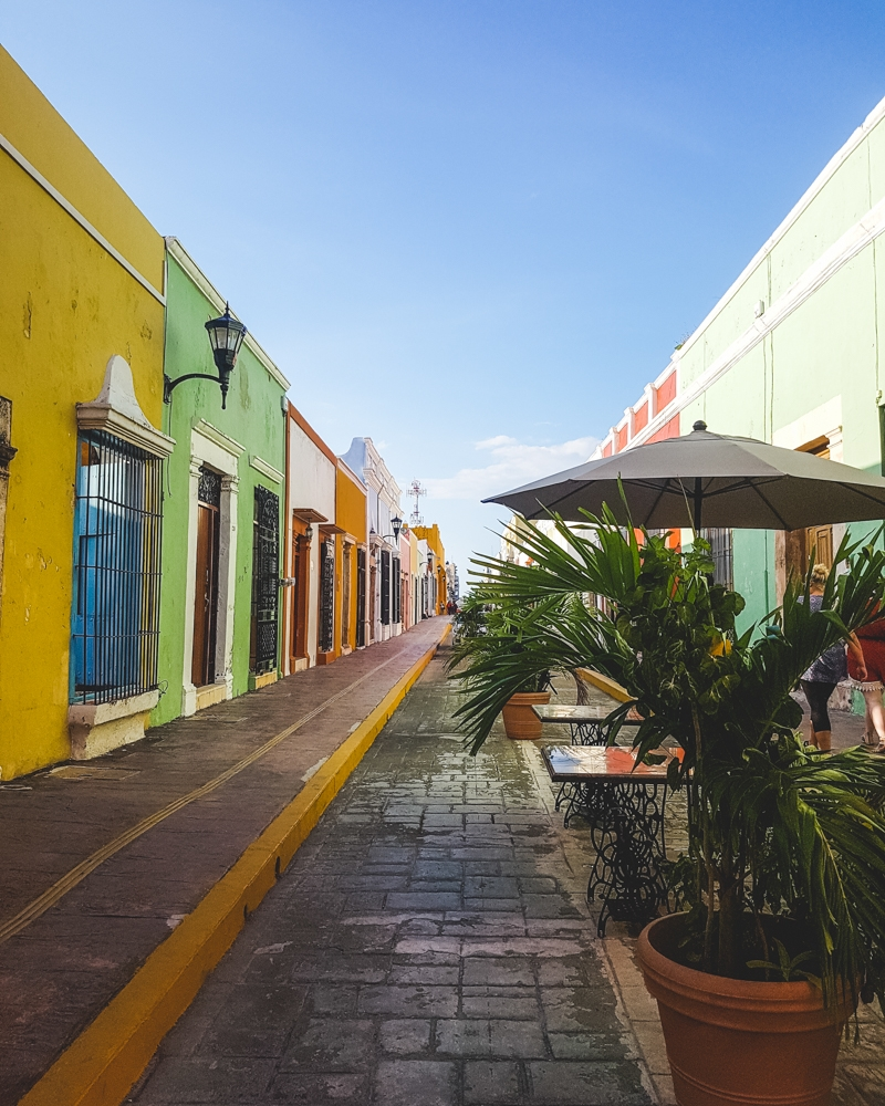 Street in Campeche, Mexico | Where to go on a road trip on the Yucatan Peninsula