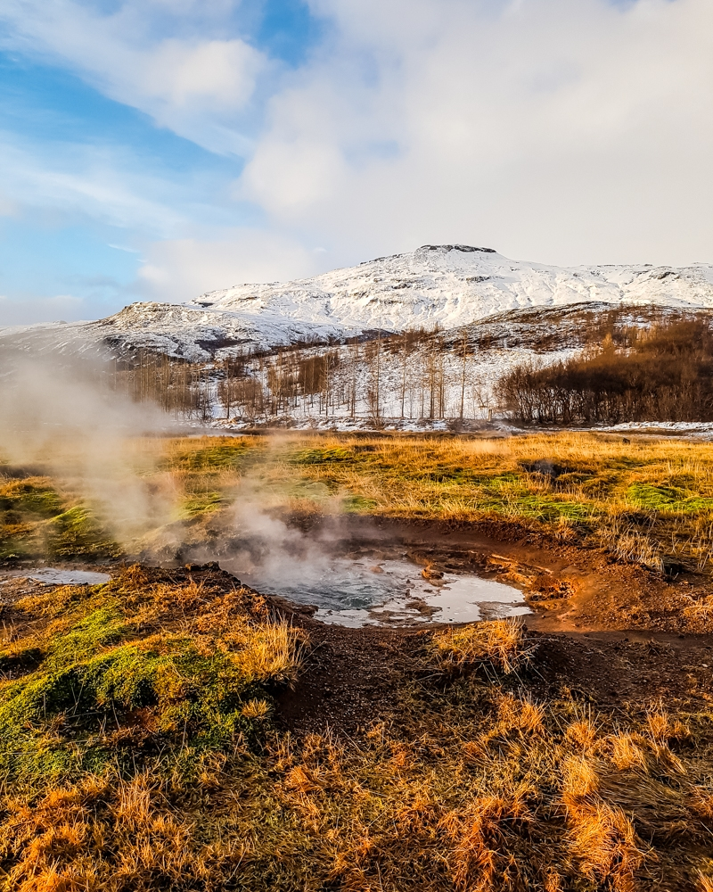 Bubbling lava pools in Geysir, Iceland | Pictures of Iceland in Winter #iceland #winterphotography #europe #nordiccountries #kinfolk
