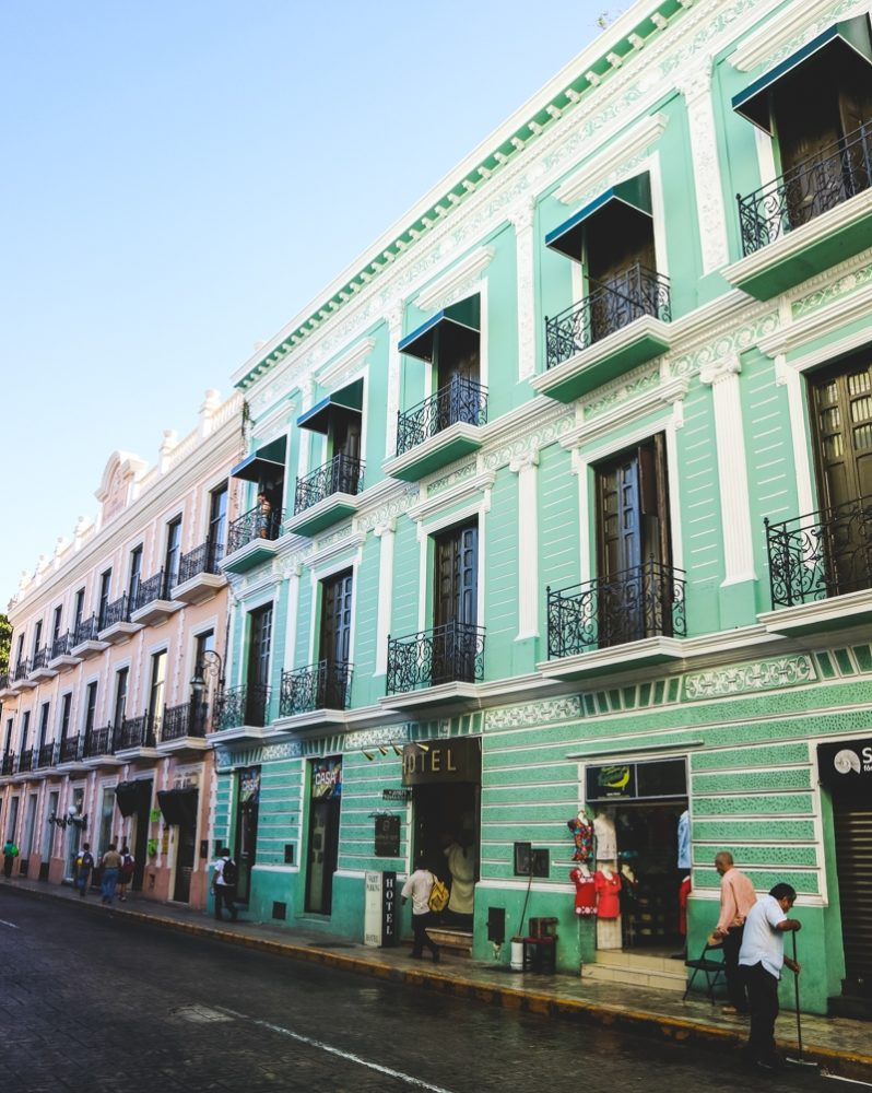 Street in Merida, Mexico | Where to go on a road trip on the Yucatan Peninsula