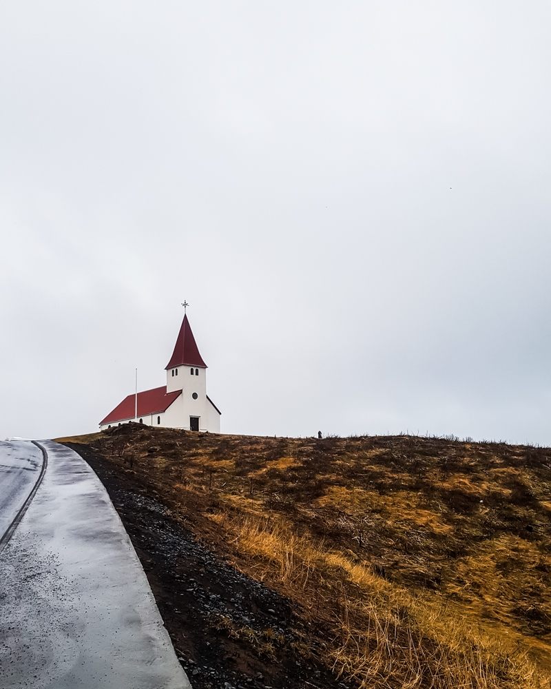 Vik i Myrdal Church, Iceland | Pictures of Iceland in Winter #iceland #winterphotography #europe #nordiccountries #kinfolk
