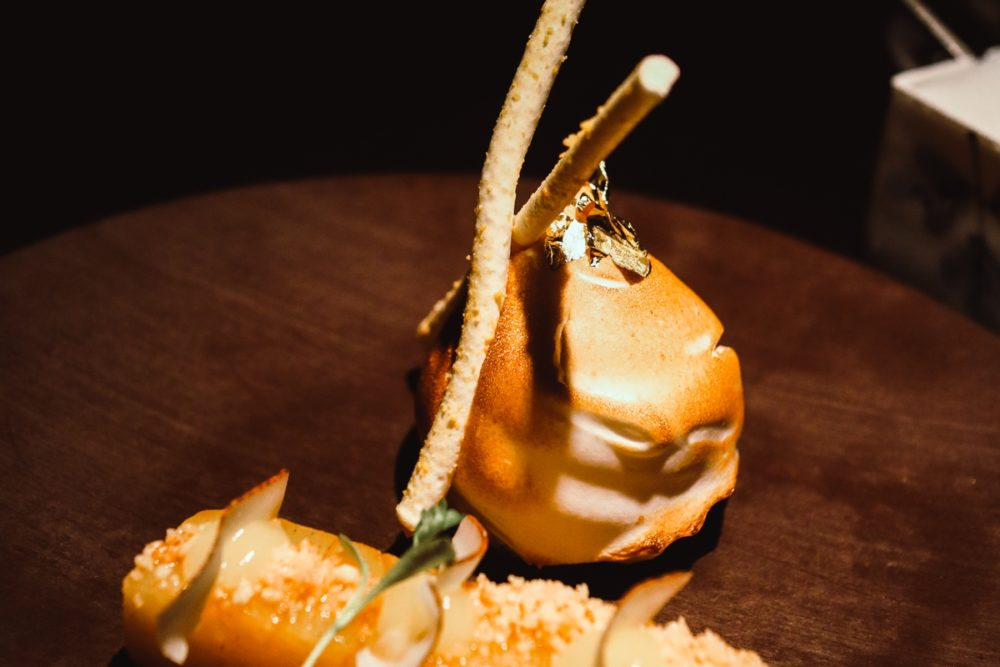 Tropical Baked Alaska dessert from the Taste of Hakkasan Menu: Affordable Michelin star dining in London