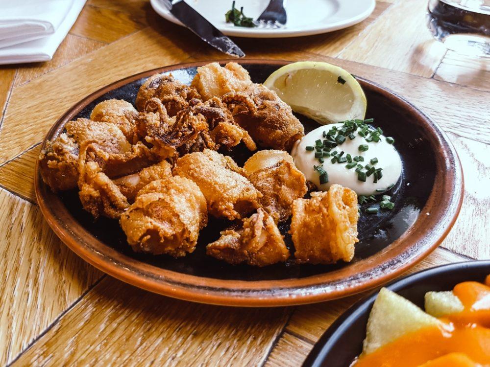 Calamares at Ibérica Spanish tapas restaurant Manchester
