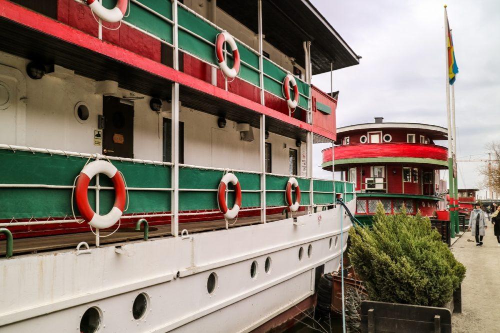 Exterior of Red Boat Hotel Hostel in Stockholm, Sweden