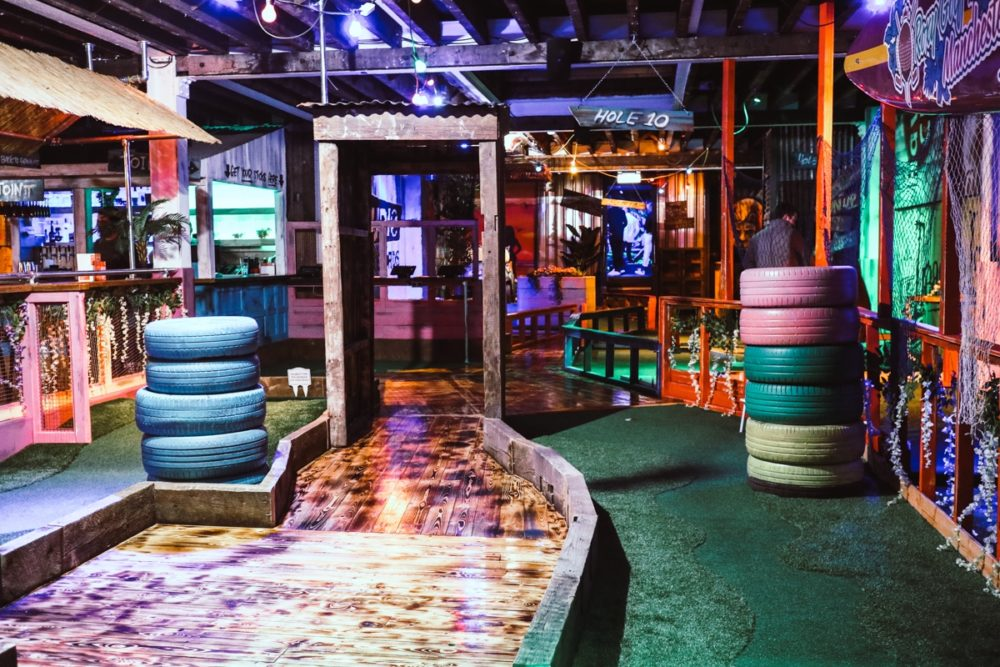 Mini golf at Roxy Ball Room Manchester