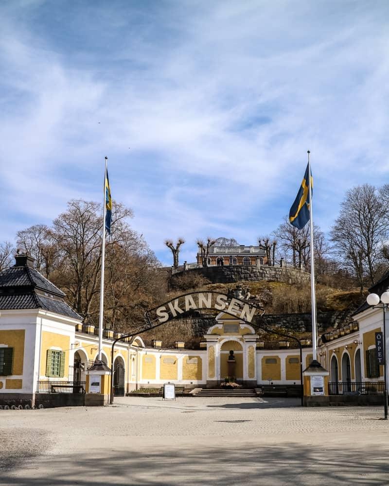 Entrance to Skansen Open Air Museum, Stockholm, Sweden