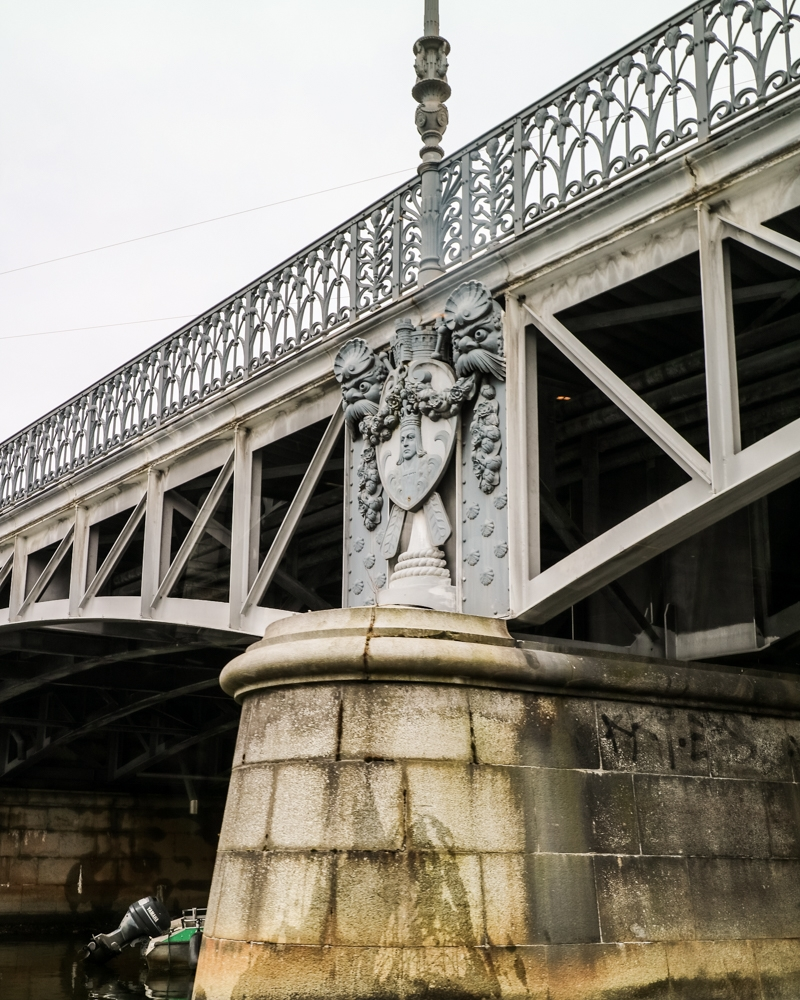 Bridge detail on Stockholm Royal Canal tour