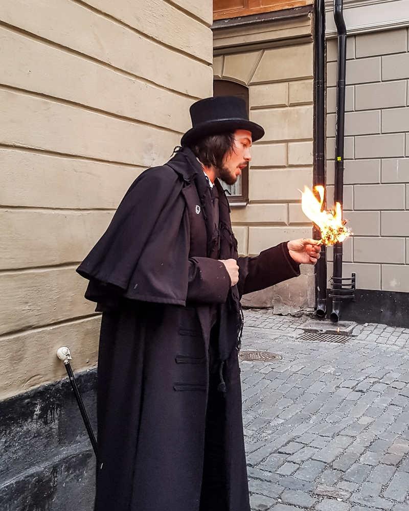 Tour guide on Stockholm Ghost Walk