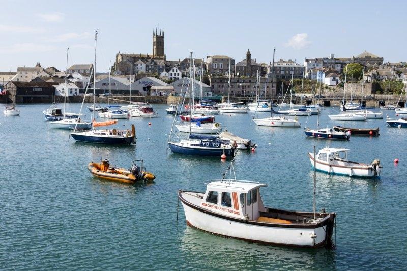 Penzance Harbour in Cornwall, UK