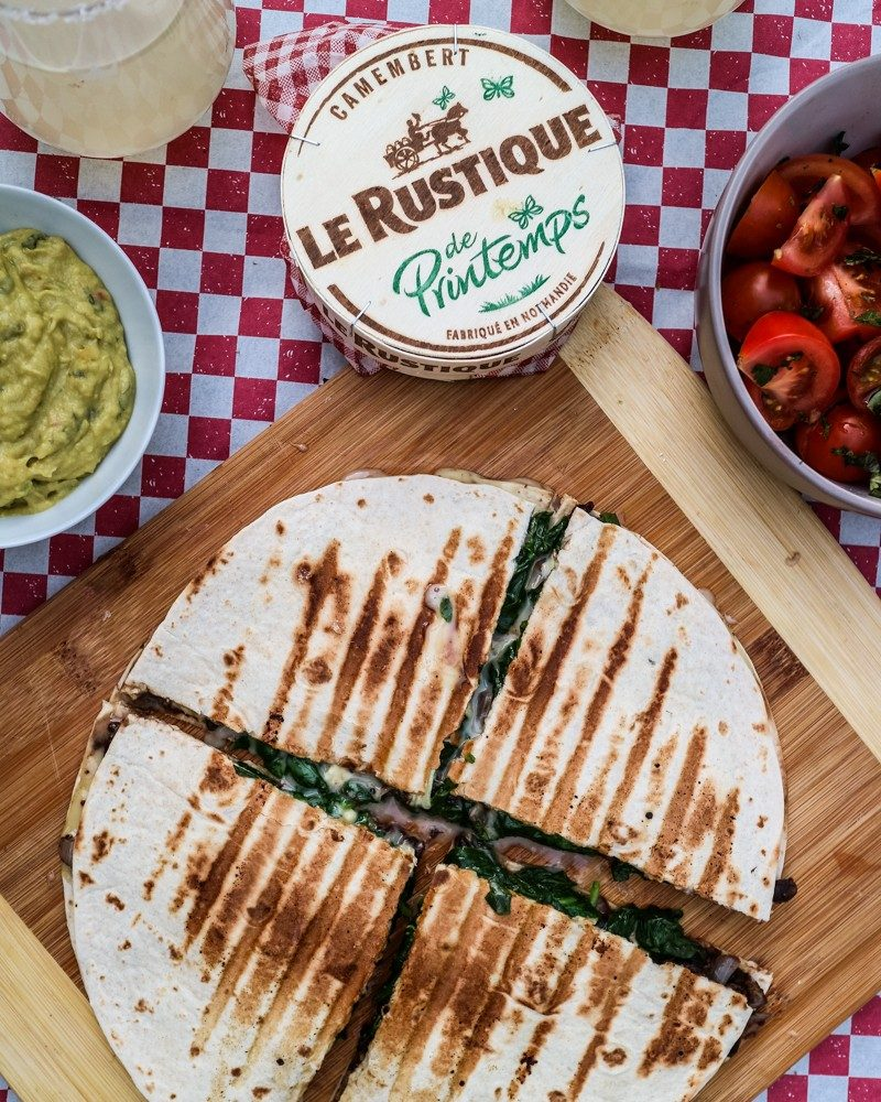 Recipe | Easy & Cheesy Summer Quesadillas with Le Rustique Camembert