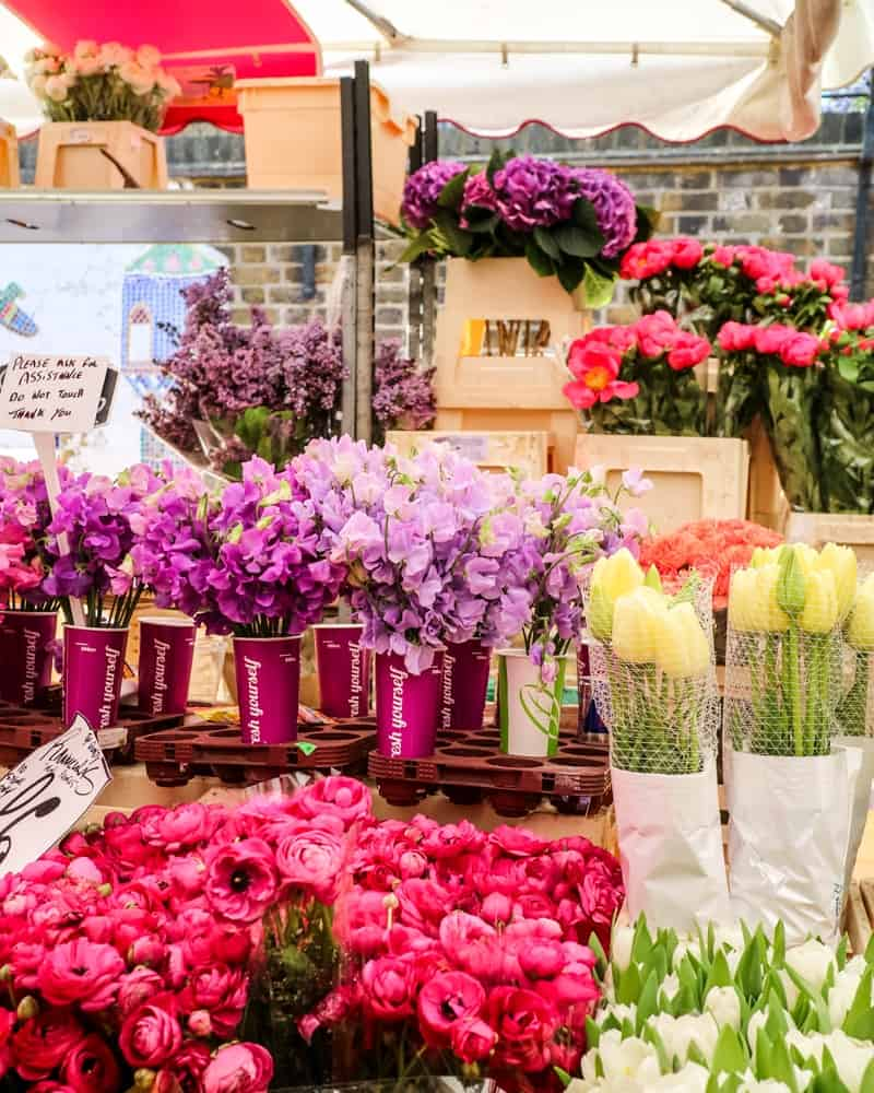 Columbia Road Flower Market stall, London