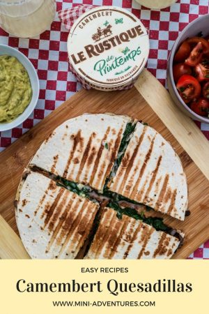 Easy Quesadilla Recipe with French Camembert and Fresh Herbs