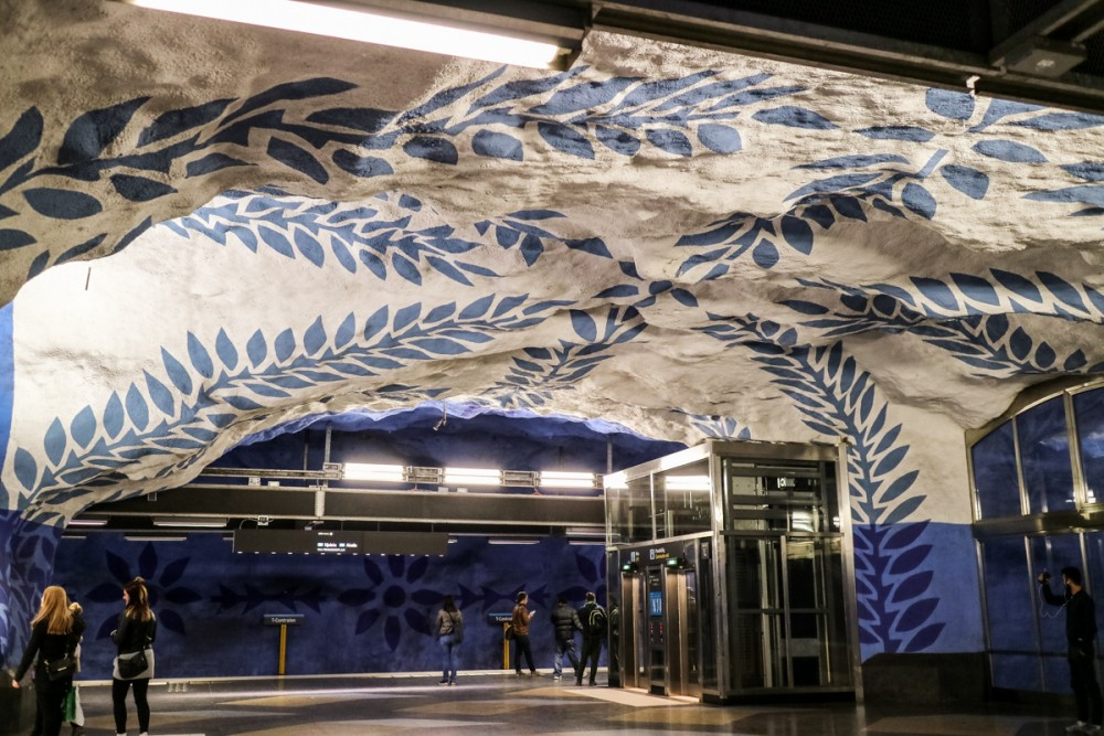 Artwork in T-Centralen station, Stockholm metro